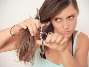 Чтобы волосы не пушились